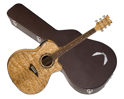 DEAN EQA Exotica Quilt Ash acoustic electric GUITAR Gloss Natural - NEW w/ Case
