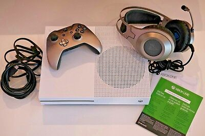 Microsoft Xbox One S 1TB w/ Phantom Black Controller and Headset