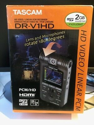 Tascam DR-V1HD HD Video / Linear Portable PCM Recorder - Used once and full box