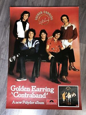 GOLDEN EARRING 1976 Contraband promotional poster