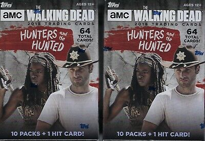 (2) 2018 Topps The Walking Dead Hunters & The Hunted Cards 64c Blaster Box LOT