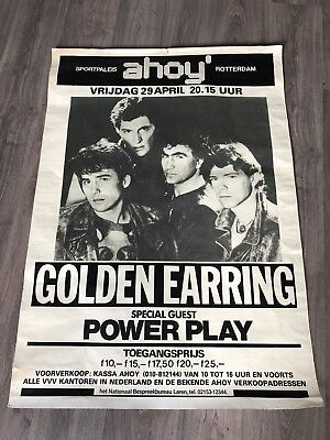 1983 GOLDEN EARRING Rotterdam Ahoy (Back Home concert) RARE Concertposter poster