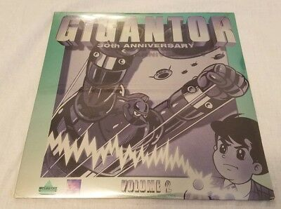 GIGANTOR 30th ANNIVERSARY COLLECTION Vol 2 LASERDISC LD  ANIME - FREE SHIPPING