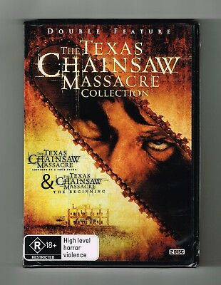 The Texas Chainsaw Massacre (2-Movie Collection) Dvd 2-Disc Set Brand New Sealed