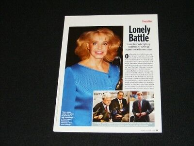 JOAN KENNEDY magazine clipping article from 2005 Lonely Battle