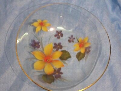 Filegrana Glass Bowl Dish Italian Style glass Retro  23cm x  6cm high 2 listed