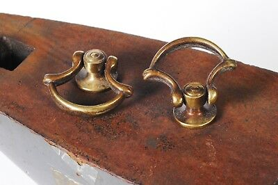 Pair Of Vintage New Old Stock 1960S Solid Brass Knobs