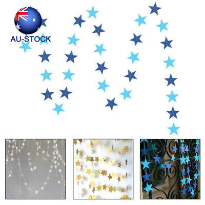 4m/13ft Paper Star Garlands Wall Hanging Banner Wedding  Home Party Decorations