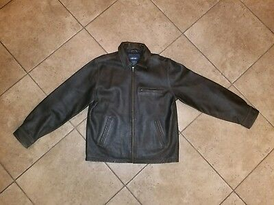 640b60e85621 Cherokee brown distressed men leather jacket size jpg 400x300 Cherokee  leather jacket