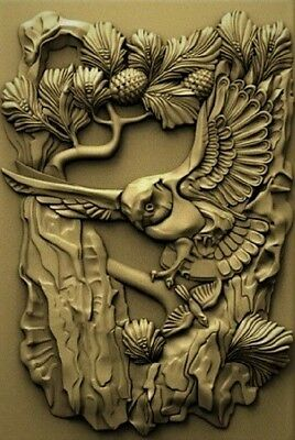 3d model relief for cnc in STL file Owl