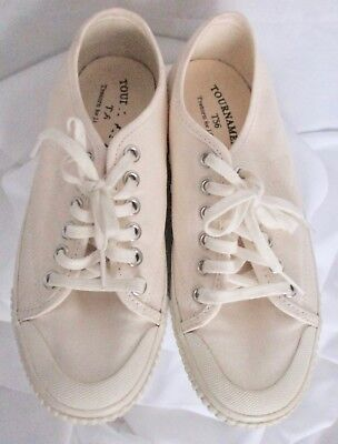 half off 08198 b1596 Tretorn for J Crew Tournament T56 Beige Sneakers (Pre-owned) Size 6