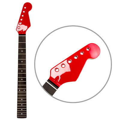 Right Handed 22 Frets Electric Guitar Neck for ST Parts Replacement Gloss Red