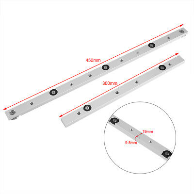 300mm /450mm Aluminium Alloy Miter Bar Slider Table Saw Gauge Rod Woodworking