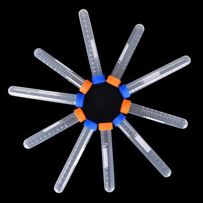 10pc Centrifuge tube plastic testtube flat socket cap round bottom sample bottle