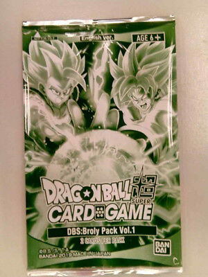 Dragon Ball Super Card Game Broly Pack Vol.1 Sealed Promo Pack Bandai English