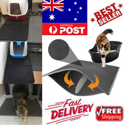 Cat Litter Mat EVA Double Layer Trapper Trays Foldable Waterproof Bottom Pet Pad