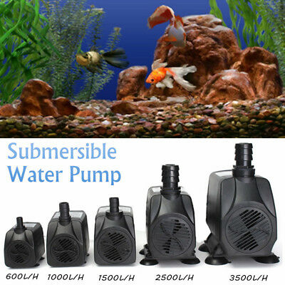 600/1000/1500/3500LPH Submersible Aquarium Fountain Pond Water Pump Fish Tank FZ