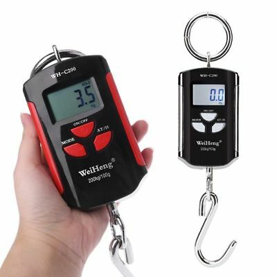 200KG High Precision Portable Electronic Crane Scale Hanging Hook Digital Scale