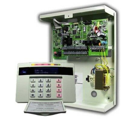 Pyronix Euro-46S Control Panel, 10 - 46 Zones, Power Supply & Lcd Keypad
