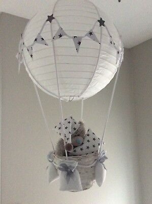 Hot air balloon nursery light shade