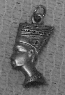 Queen Egyptology EGYPTIAN JEWELRY 2 NEFERTITI THREE DIMENSIONAL PEWTER CHARMS.
