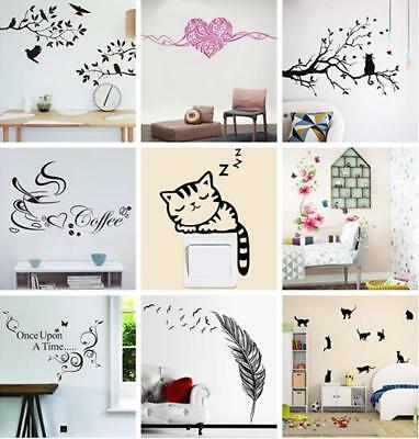 DIY removable Tree Cat Art Vinyl Quote Wall Sticker Decal Mural Home Room Decor