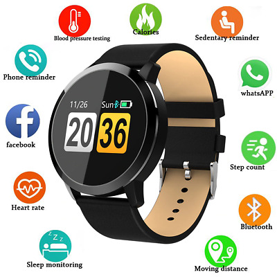 Smartwatch Q8 Orologio Smart Watch Fitness Android Impermeabile Nero