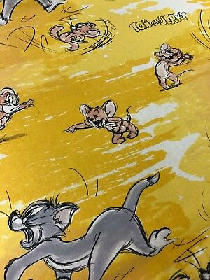 Disney's Tom & Jerry FREERUN20 Licensed 100% Cotton Craft Fabric Material