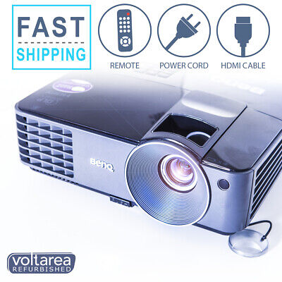BenQ MX520 DLP Projector 3000 ANSI HDMI with remote and cables HD 3D home cinema