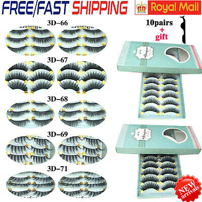 Natural Long False Eyelashes Thick Cross Makeup Party Fake Eyelashes 3D Lashes