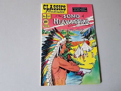CLASSICS ILLUSTRATED No. 57 The Song of Haiwatha - 15c - HRN 118