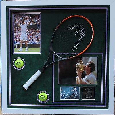 Andy Murray Hand Signed Tennis Display FRAMED
