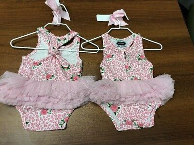 8f8f692f423b MUD PIE BABY Girls  Seahorse Crawler Swim Suit One Piece Pink Tutu 0 ...