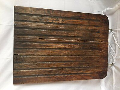 Vtg Oak Wood Drain board Kitchen Sink Basin Cover Drainboard Lodge Bar 31-17J