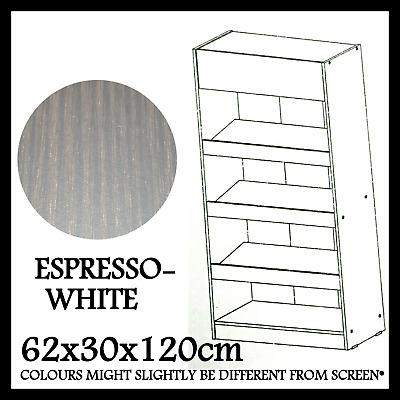 Fazt Furniture Bookshelf Bookcase Shoe Rack Modern Design Espresso-White Sc-4207