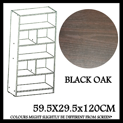 Firme Furniture Bookcase Bookshelf Shoe Rack Black Oak Modern Design Mpc-4534