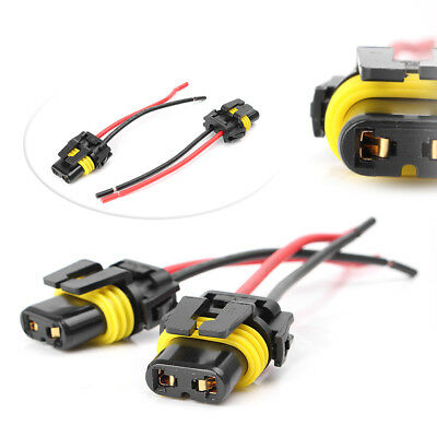 UNIVERSAL 9005 9006 H10 Adapter Wiring Harness Socket For Headlight on