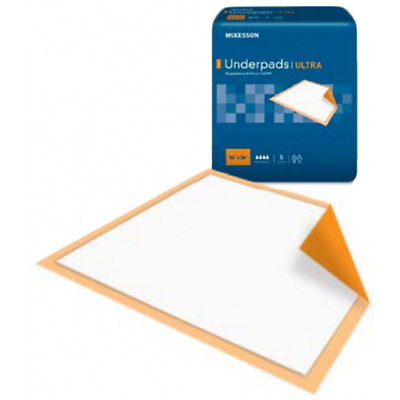 Underpad McKesson Ultra 36X36in, Fluff/Polymer Heavy Absorbency, Bag of 5