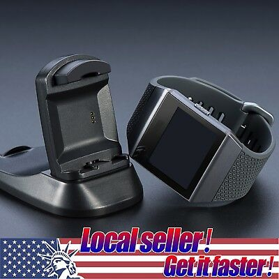 US Charging Cradle Dock Holder USB Cable Charger for Fitbit Ionic Smart Watch mr