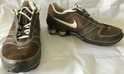 fa9f6385cab87d 2007 Nike Shox Running Shoes Womens US Size 8 Brown Leather 317495-201 EUC