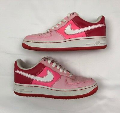Nike Air Force 1 Xxv Gs Cloverdale Park 314219-612 Kids Pink Shoes Sz 4.5 01672ae67