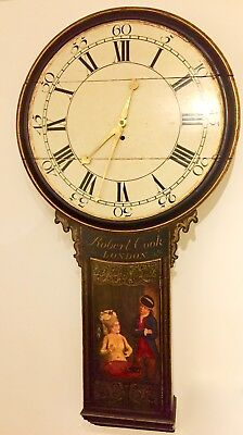 TAVERN or ACT OF PARLIAMENT CLOCK...  longcase fusee wall grandfather regulator