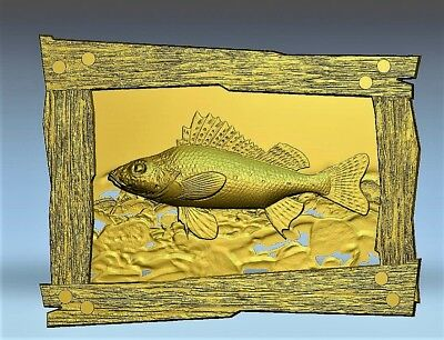 Fish relief 3d model relief for cnc in STL file format