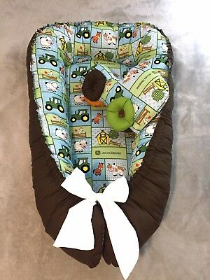 baby nest Sleeper Bedding double side with Toy Car 🚗 portable infant sleeper