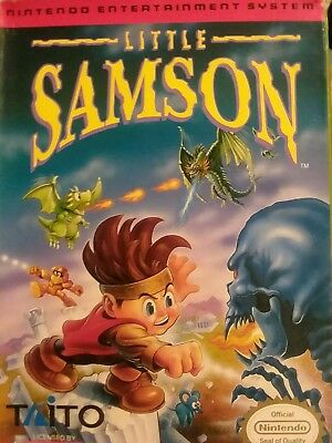 LITTLE SAMSON (RARE nes video game 1992) with box is authentic