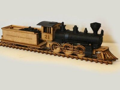 28 MM WILD West Train  laser cut 2 mm MDF and Resin parts