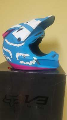 Fox Racing V3 Creo Youth MX/Offroad Helmet Teal SIZE: YL