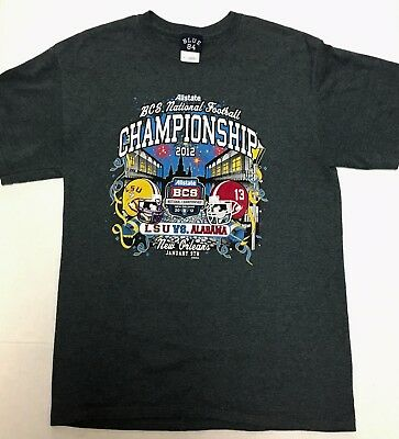 2012 BCS National Football Championship LSU VS Alabama Tee-shirt M