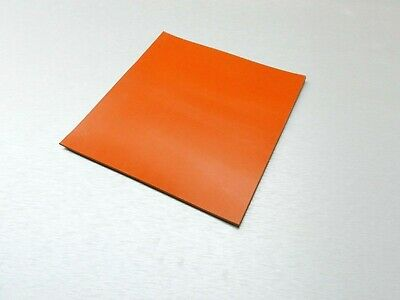 "SILICONE RUBBER SHEET HIGH TEMP SOLID RED/ORANGE COMMERCIAL GRADE 6"" x 6"" x 1/8"""