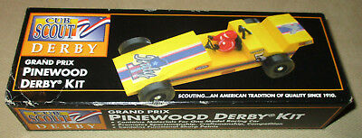 Vintage Official 1996 Cub Scout Pinewood Derby Grand Prix Car Kit - New